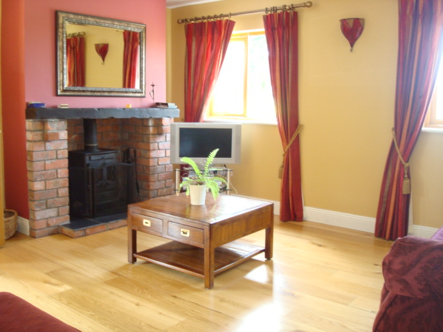 The Parlour, living Room, Decoy Country Cottages, Luxury self catering accommodation in Meath