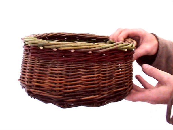 Finished Basket Willow Basket weaving course Decoy Country Cottages